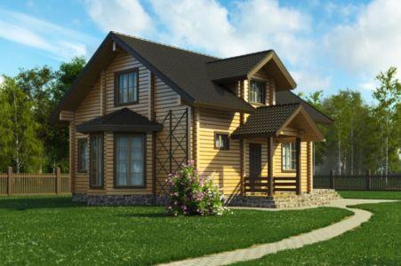 Дома из клееного бруса от 100 кв.м. до 150 кв.м.