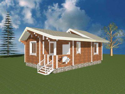 Дом 54-40 из клееного бруса