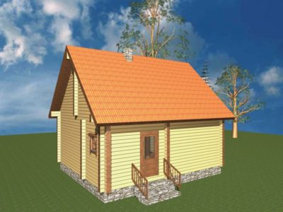 Дом 47-40 из клееного бруса