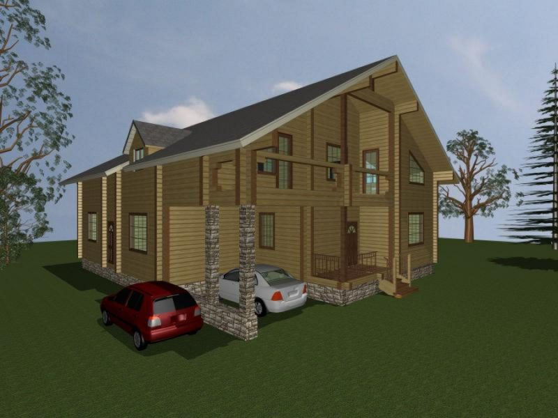 Дом 353-159 из клееного бруса
