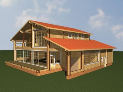 Дом 410-201 из клееного бруса