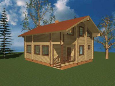 Дом 150-82 из клееного бруса