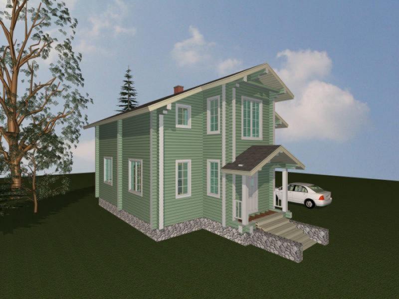 Дом 123-74 из клееного бруса