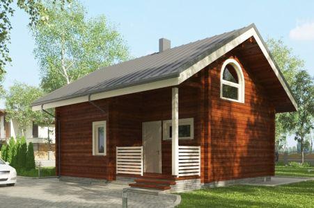 Дома из клееного бруса до 100 кв.м.