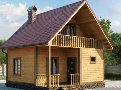 Проект 2 дом из бруса