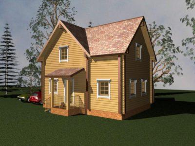 Дом 97-47 из клееного бруса