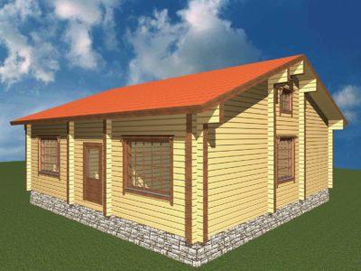 Дом 107-66 из клееного бруса
